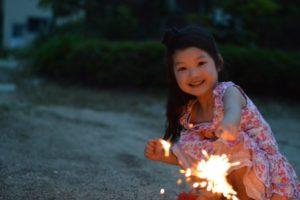 花火の時の注意